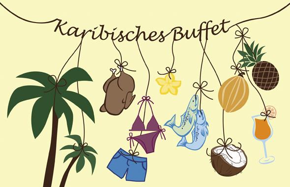 Karibisches Buffet